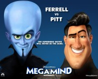 Metro Man and Megamind from the Dreamworks CG animated movie Megamind wallpaper
