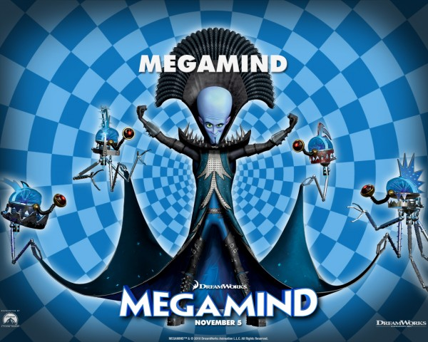Megamind from the Dreamworks CG animated movie wallpaper