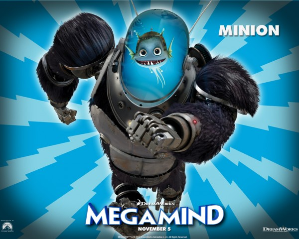 Minion the fish from the Dreamworks CG animated movie Megamind wallpaper