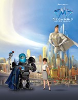 Cast of the Dreamworks CG animated movie Megamind wallpaper