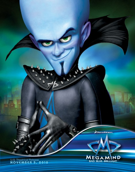 Megamind poster from the Dreamworks CG animated movie Megamind wallpaper