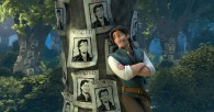 Flynn and his wanted posters from Disney's CG animated movie Tangled wallpaper