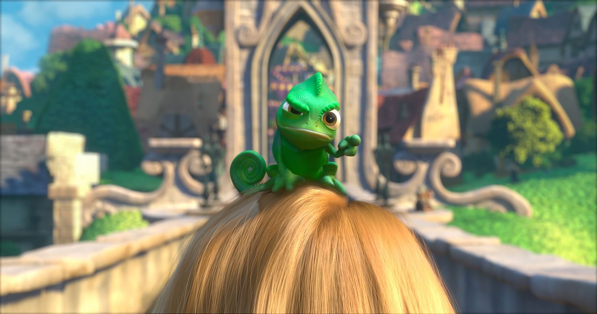 Cute Pascal from Disney's Movie Tangled Desktop Wallpaper