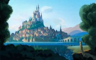 Rapunzel's Kingdom Castle concept art from Disney's animated movie Tangled wallpaper picture