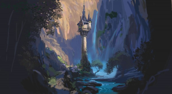 Rapunzel's tower concept art from Disney's animated movie Tangled wallpaper picture