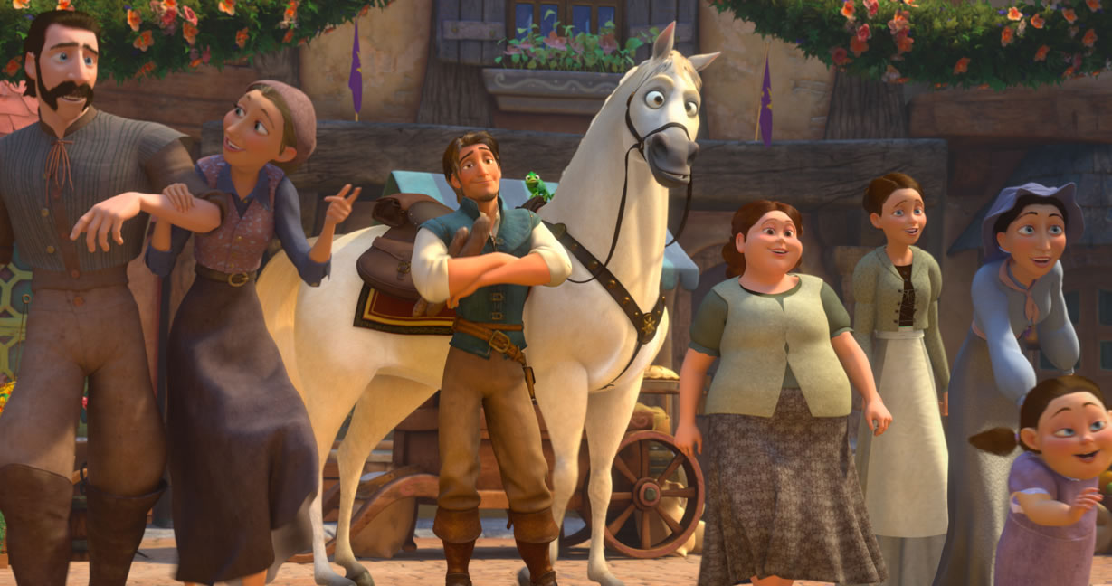Maximus Flynn And Pascal From Disneys Movie Tangled Wallpaper