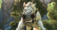 Maximus the horse all wet and grumpy from Disney animated movie Tangled wallpaper