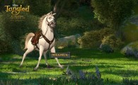 Maximus the horse looking heroic from Disney animated movie Tangled wallpaper