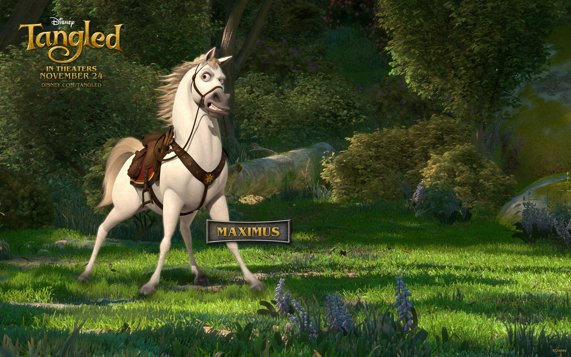 Maximus the Horse from Disney's Tangled Desktop Wallpaper