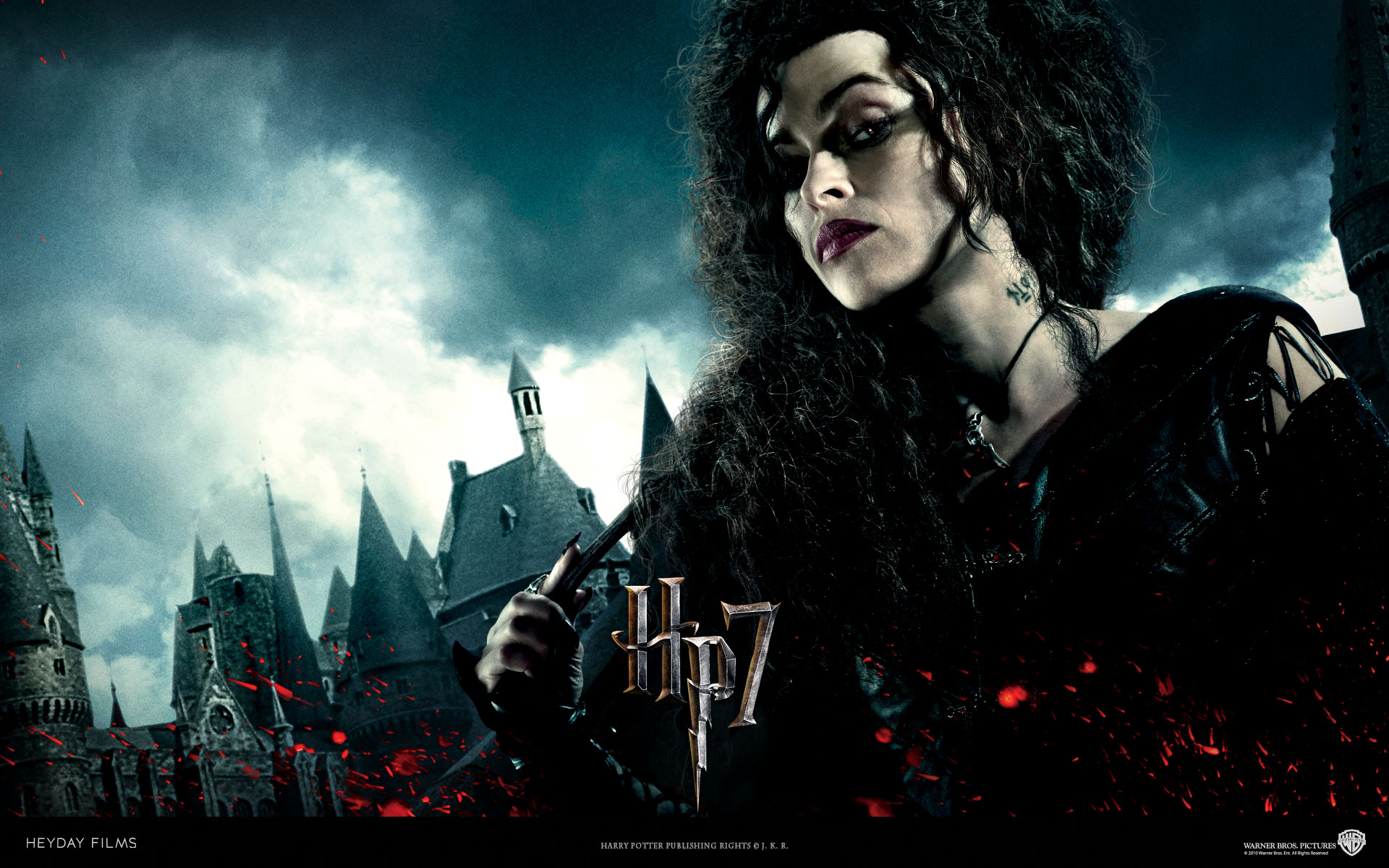 Bellatrix Lestrange From Harry Potter And The Deathly Hallows Wallpaper