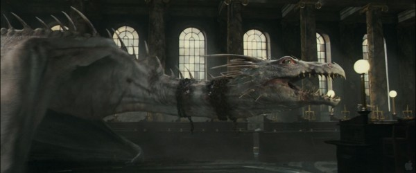 the dragon from Harry Potter and the Deathly Hallows movie wallpaper
