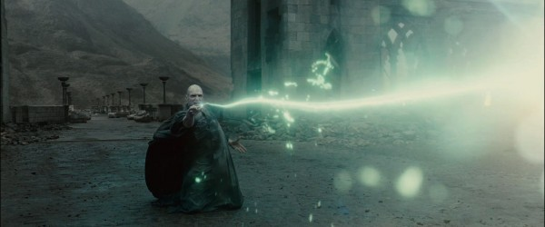 Voldemort wizard's duel from Harry Potter and the Deathly Hallows movie wallpaper