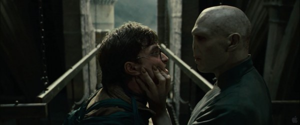 Lord Voldemort confronts Harry Potter from Harry Potter and the Deathly Hallows movie wallpaper