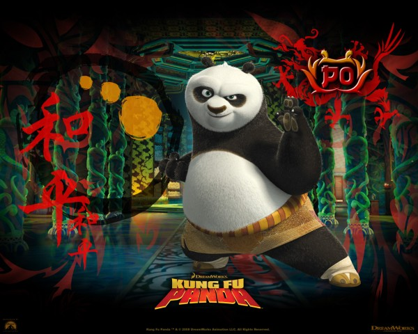 Po the Dragon Warrior from Kung Fu Panda Movie wallpaper