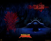Tai Lung the snow leopard from Kung Fu Panda Movie wallpaper