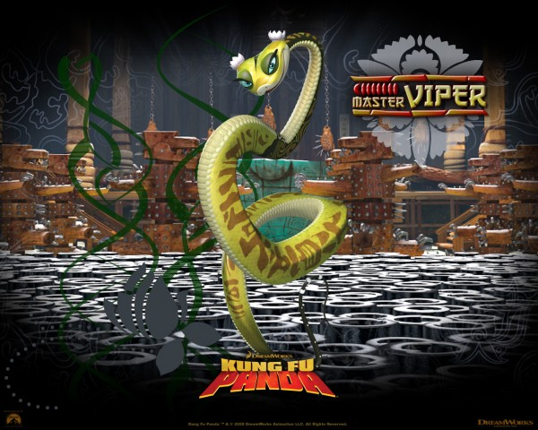 Master Viper the snake from Kung Fu Panda Movie wallpaper