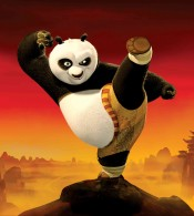 Po the Dragon Warrior in Kung Fu Panda Movie wallpaper