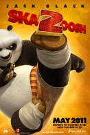 Po the Dragon Warrior in Kung Fu Panda 2 Movie Poster wallpaper