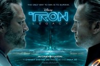 Kevin Flynn faces off against Clu from Disney's Tron Legacy movie wallpaper