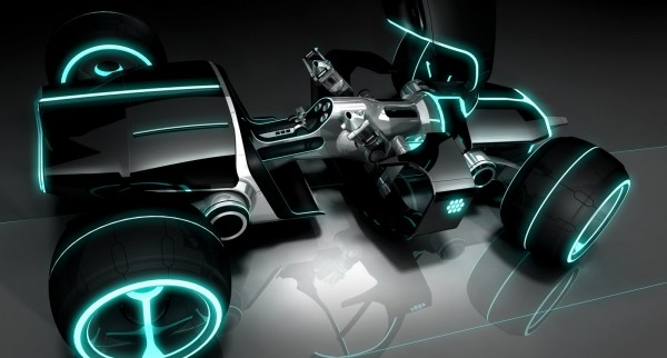 the light runner car from Disney's Tron Legacy movie wallpaper