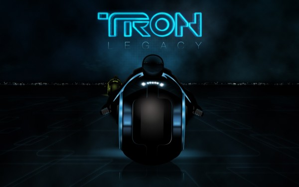 light cycle logo from Disney's Tron Legacy movie wallpaper