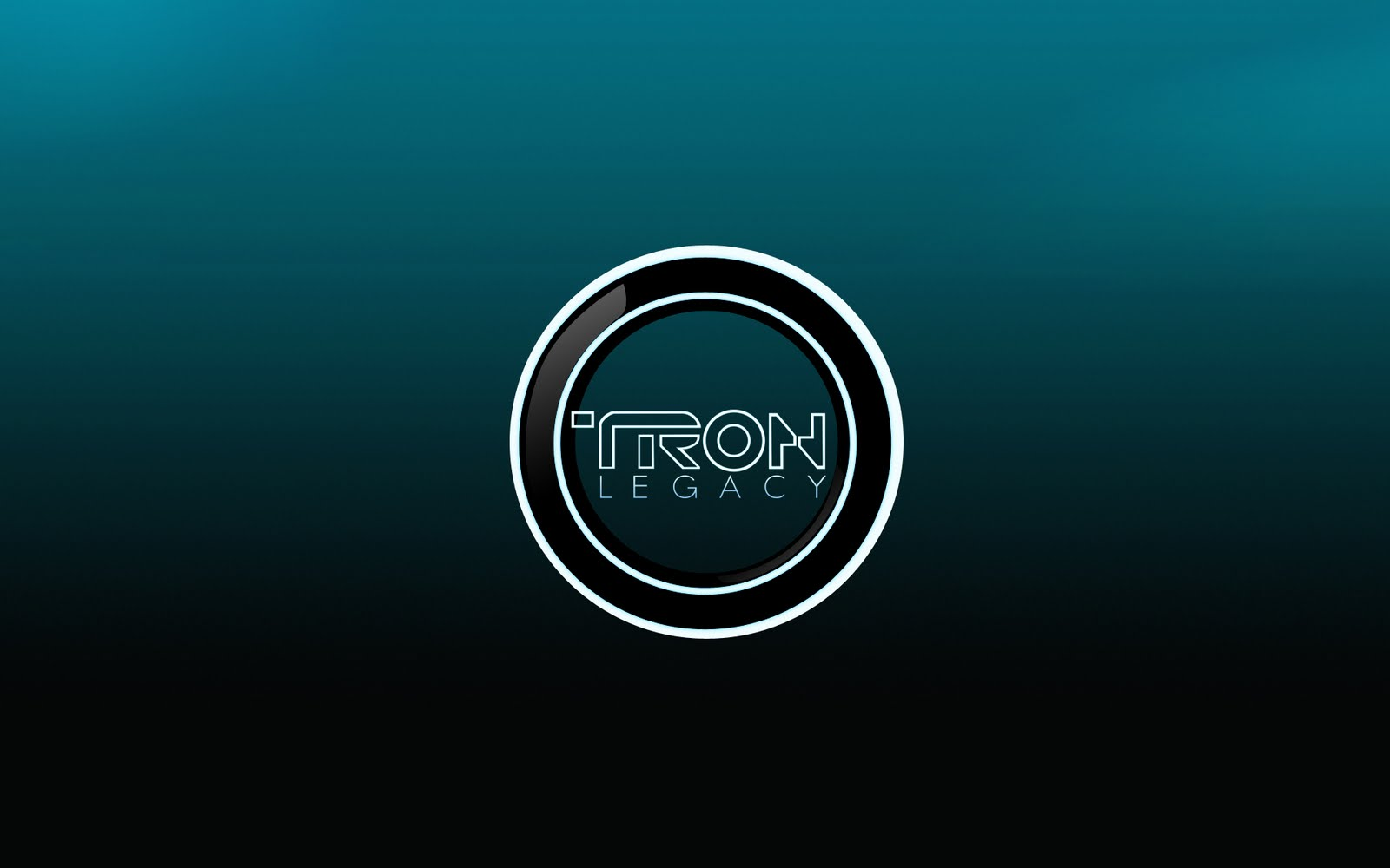 disney's tron legacy logo desktop wallpaper