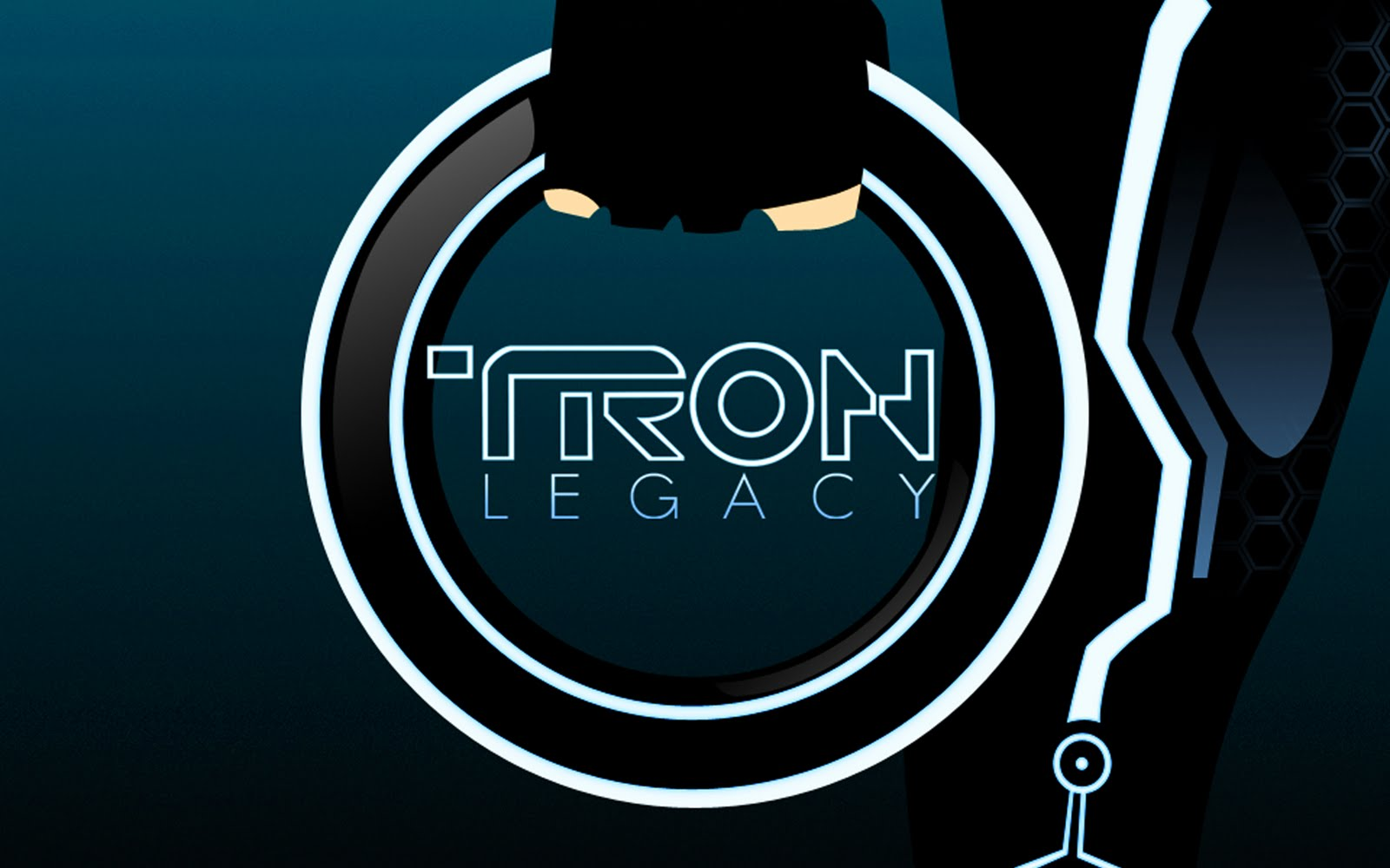 movie logo of disney's tron: legacy desktop wallpaper