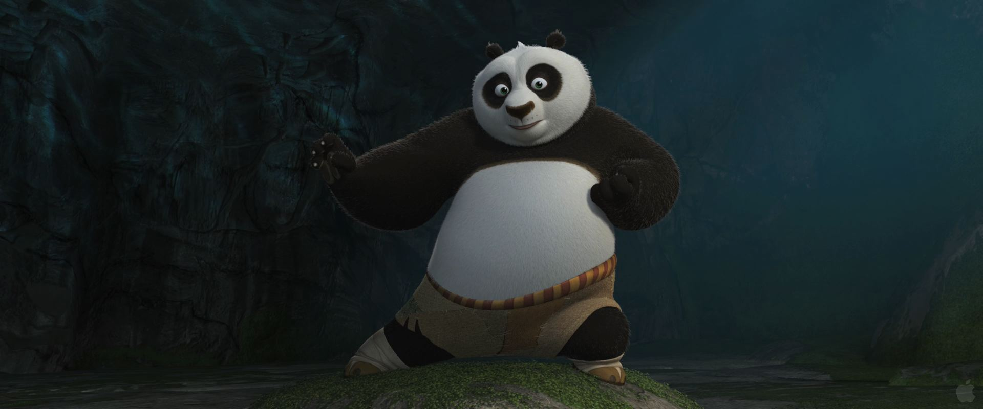 Po in Kung Fu Panda 2 Movie Desktop Wallpaper