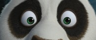 Po the panda staring at you from Kung Fu Panda movie wallpaper
