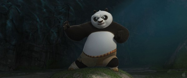Po the panda doing martial arts poses from Kung Fu Panda movie wallpaper