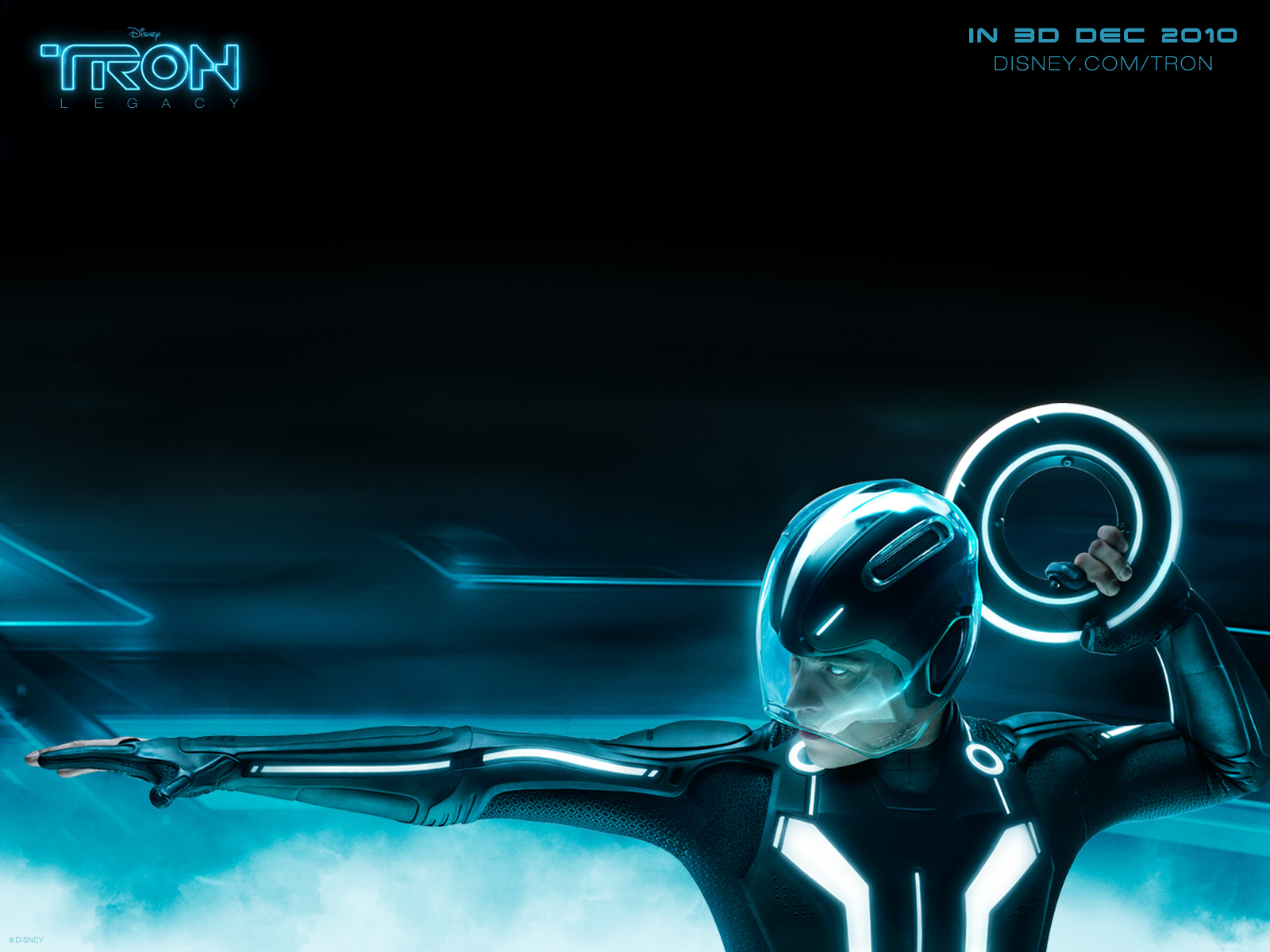 sam flynn from disney's tron: legacy movie desktop wallpaper