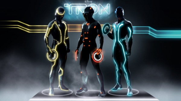 a trio of characters from Disney's Tron Legacy movie wallpaper
