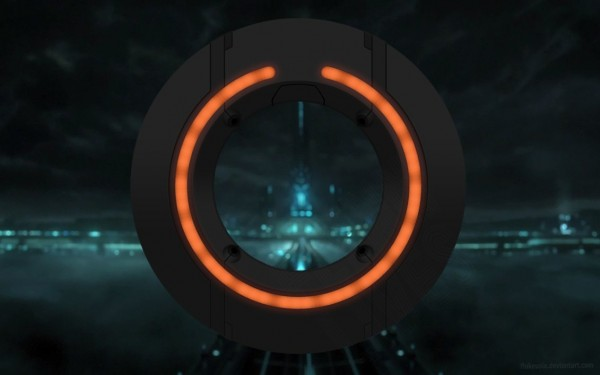 identity disc from Disney's Tron Legacy movie wallpaper