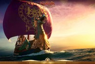 The Dawn Treader ship from the Chronicles of Narnia wallpaper