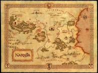 map of the world of Narnia wallpaper
