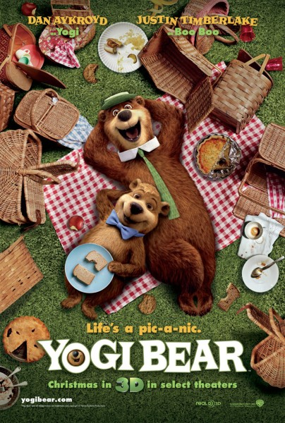 poster for the Yogi Bear movie featuring Yogi and Boo Boo wallpaper