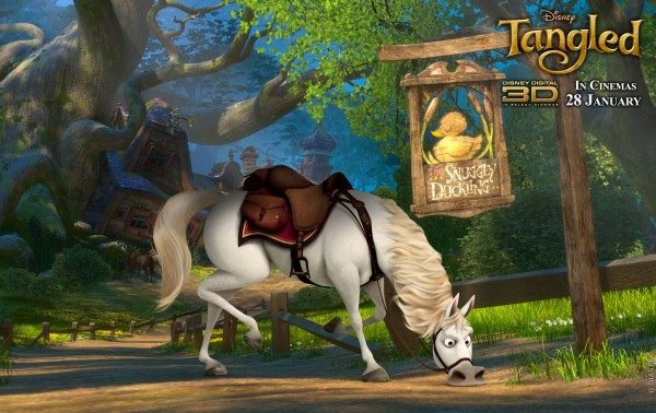 Maximus the horese from Disney's animated movie Tangled wallpaper
