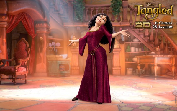 Mother Gothel from Disney's animated movie Tangled wallpaper