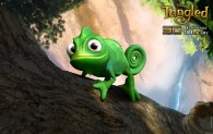 Pascal the chameleon Rapunzel's pet from Disney's animated movie Tangled wallpaper