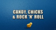 logo for the movie Hop which reads candy, chicks and rock n' roll wallpaper