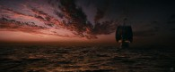 The ship the Dawn Treader sailing at sunset from the Chronicles of Narnia Voyage of the Dawn Treader movie wallpaper