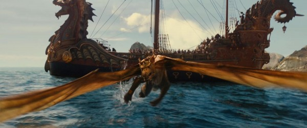 the dragon from the Chronicles of Narnia Voyage of the Dawn Treader movie wallpaper