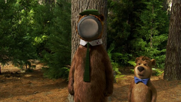 Yogi Bear and Boo Boo the bear from the live action Yogi Bear movie wallpaper