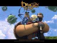 Gwizdo, Zoe, Lian Chu and Hector from the CG animated movie Dragon Hunters wallpaper