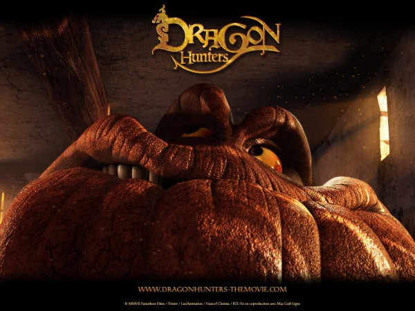 the pumpkin headed Silly Dragon from the CG animated movie Dragon Hunters wallpaper