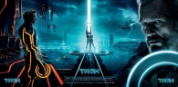 movie poster featuring the main characters from Disney's Tron Legacy wallpaper