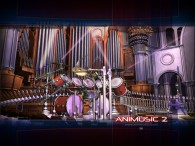 abstract virtual musical instruments CG animated in Animusic wallpaper