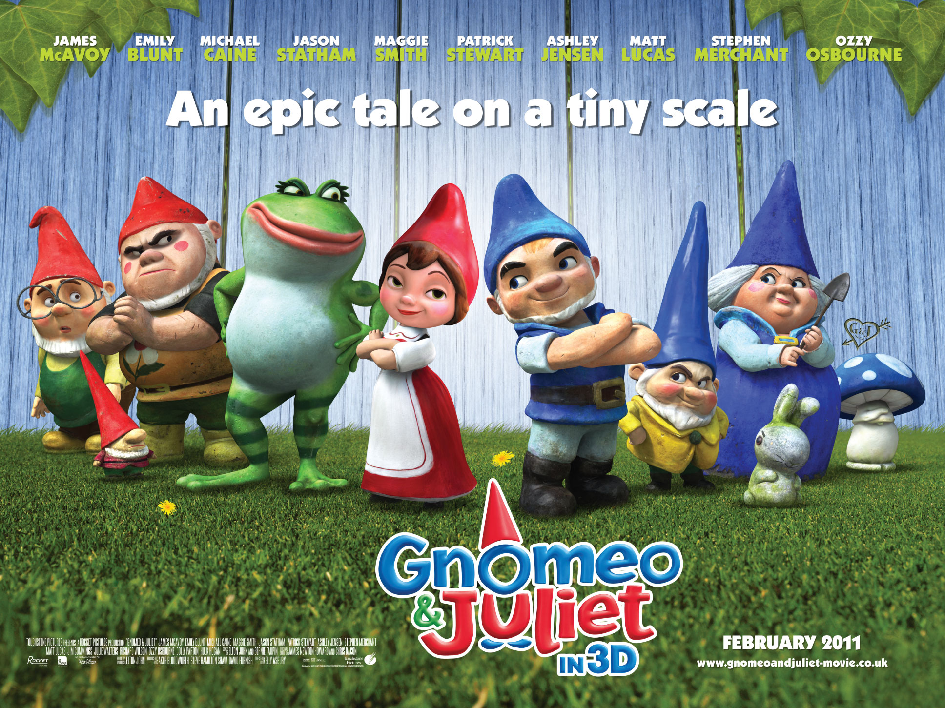 Cast Of Gnomeo And Juliet Movie Poster Wallpaper
