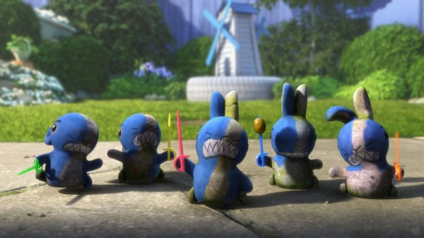 blue rabbits from Disney's Gnomeo and Juliet movie wallpaper