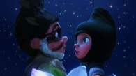 Gnomeo and Juliet meeting at night from Disney's Gnomeo and Juliet movie wallpaper